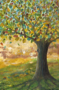 Tree Roots Painting Posters - Deep roots Poster by Mona Elliott