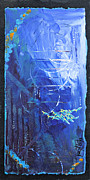 Navy Paintings - Deep Sea Abstract by Tracy L Teeter