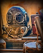 Brass Helmet Posters - Deep Sea Diver Poster by Paul Ward