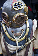 Diving Helmet Photo Posters - Deep Sea Diving Gear Poster by Chris Dutton
