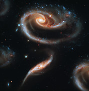 Astronomy Art - Deep Space Galaxy by The  Vault