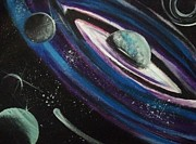 Out Of This World Paintings - Deep Space by Megan Jenkins