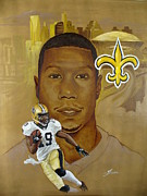 Nfl Sports Paintings - Deep Threat by Theon Guillory