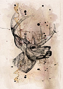 Deer 4 Print by Mark Ashkenazi