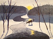 Michelle Treanor - Deer by a stream