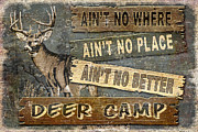 Deer Camp Framed Prints - Deer Camp Framed Print by JQ Licensing