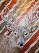 Pointers Posters - Deer Deco Poster by PainterArtist FINs husband