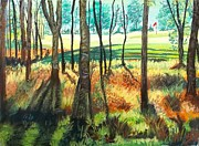 Golf Pastels - Deer Eye View of Green at Sunrise by Frank Giordano