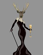 Loopylolly   - Deer Glamour Deer Black