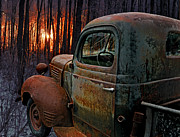 Rusty Pickup Truck Photos - Deer Hunting by Ron Day