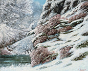 Does. Winter Prints - Deer in a Snowy Landscape Print by Gustave Courbet