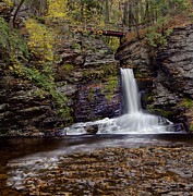 Dingmans Falls Photos - Deer Leap Falls by Susan Candelario