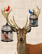 Kelly McLaughlan - Deer with Bird Cages