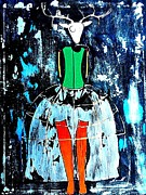 Amy Sorrell Metal Prints - Deer Woman Metal Print by Amy Sorrell