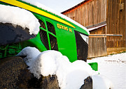 Barn Covered In Snow Framed Prints - Deere in Snow Framed Print by Tim  Fitzwater