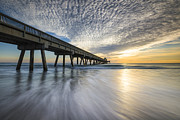 Deerfield Posters - Deerfield Beach Pier Sunrise - Boca Raton Florida Poster by Dave Allen