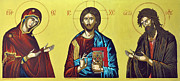 Orthodox Icons Paintings - Deesis by Giorgos Arsenis