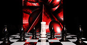 Chess Queen Posters - Defend the Queen Poster by Robert Schwarztrauber