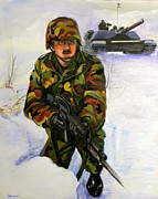 Army Paintings - Defending the Gap by Richard Barone