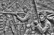 Aotp Framed Prints - Defy the Enemy.  State of Delaware Monument Detail-C Gettysburg Autumn Mid-Day. Framed Print by Michael Mazaika