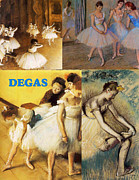 Ballet Dancers Posters - Degas Collage Poster by Philip Ralley