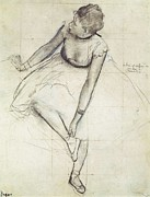 Ballet Dancers Photo Prints - Degas, Edgar 1834-1917. A Dancer Print by Everett