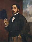 Self-portrait Photo Prints - Degas, Edgar 1834-1917. Self-portrait Print by Everett