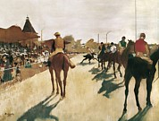 Pictures Of Horses Framed Prints - Degas, Edgar 1834-1917. The Parade, Or Framed Print by Everett