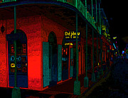 Teresa Jacobs Metal Prints - Dejavu Bar and Grill in the French Quarter Metal Print by Teresa Jacobs