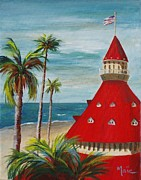 Coronado Art - Del and its beach by Maic Palmieri