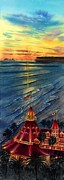 Beautiful Beach Paintings - Del Before Sunset by John YATO