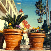 Shores Mixed Media - Del Flower Pots by Glenn Mcnary