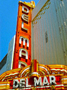 Del Mar Theater - Santa Cruz - 02 Print by Gregory Dyer