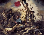 Delacroix Photo Prints - Delacroix, Eugène 1798-1863. Liberty Print by Everett