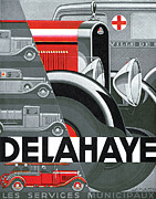 Advertisement Prints - Delahaye Cars - Vintage Poster Print by World Art Prints And Designs