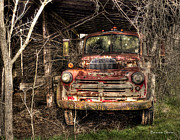 Truck Prints - Delapidated Dodge Print by Benanne Stiens