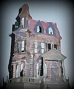 Mansion Digital Art - Delapitated Victorian Mansion by John Malone