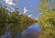 David Letts Framed Prints - Delaware and Raritan Canal Framed Print by David Letts