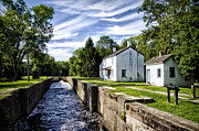 Kingston Digital Art Prints - Delaware Canal Kingston New Jersey Print by Bill Cannon