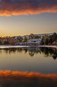 Delaware Park Marcy Casino Autumn Sunrise Print by Chris Bordeleau