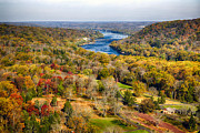 Delaware River Valley Fall Scenic Print by George Oze