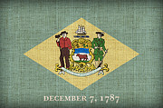 Delaware State Flag Print by Pixel Chimp