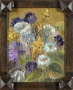 Vic Mastis Originals - Delicate Aroma I with Gold Leaf by Vic Mastis by Vic  Mastis