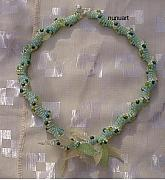 Plastic Jewelry - Delicate Green Spiral Necklace by Nurit Schlomi von-strauss