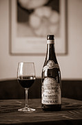 Red Wine Bottle Framed Prints - Delicious Amarone Framed Print by Ari Salmela