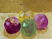 Acrylic Image Paintings - Delicious Apples by Heidi Smith