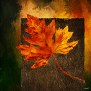 Red Maple Tree Prints - Delightful Fall Print by Lourry Legarde