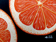 Orange Metal Prints - Delightfully Citrus Metal Print by Kayleigh Semeniuk