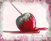 Lick Paintings - Delightfully Delectable 4 Candy Apple by Shana Rowe