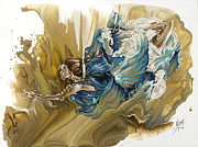 Dance In Water Prints - Deliver Print by Karina Llergo Salto